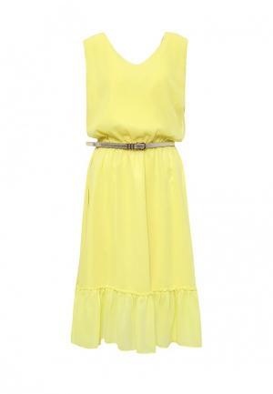 Платье Bezko. Цвет: желтый