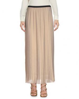 Длинная юбка KAOS JEANS. Цвет: песочный