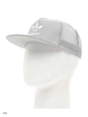 Бейсболка TREFOIL TRUCKER  MGSOGR Adidas. Цвет: серый, белый