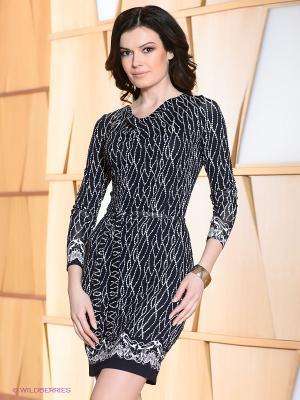 Платье Hammond. Цвет: темно-синий, белый