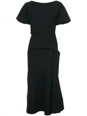 Драпированное платье миди Maticevski. Цвет: чёрный