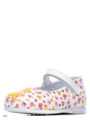 Туфли ELEGAMI. Цвет: белый, желтый, розовый