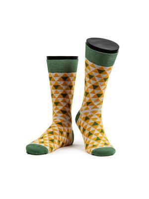 Straw fantasy носки мужские MARREY. Цвет: светло-зеленый, белый, желтый