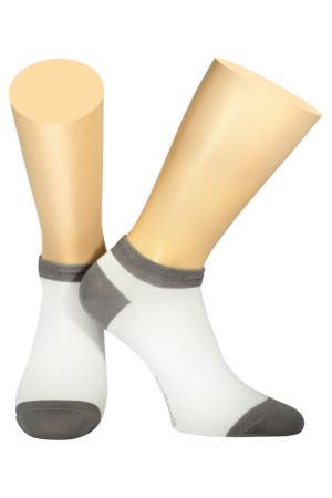 Носки Collonil. Цвет: белый, серый