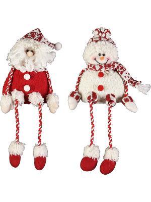 Мягкая игрушка Дед Мороз, Снеговик Mister Christmas. Цвет: красный