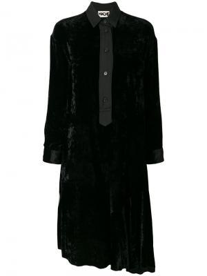 Расклешенное платье-рубашка Hache. Цвет: чёрный