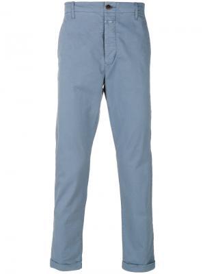 Эластичные брюки-чинос Closed. Цвет: синий