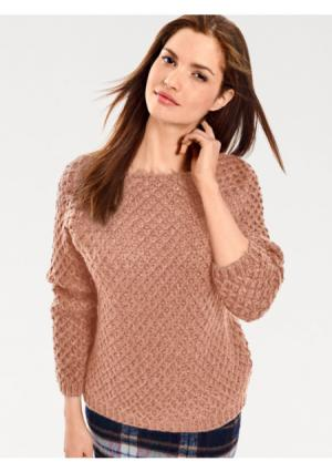 Пуловер B.C. BEST CONNECTIONS by Heine. Цвет: бежевый, темно-синий, цвет розового дерева