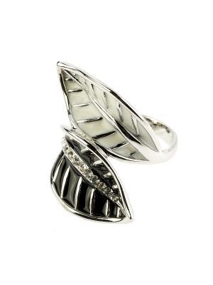 Кольцо Bijoux Land. Цвет: серебристый, белый, черный