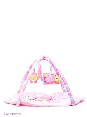 Развивающий коврик Amico. Цвет: бледно-розовый, желтый
