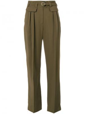 Прямые брюки A.P.C.. Цвет: зелёный