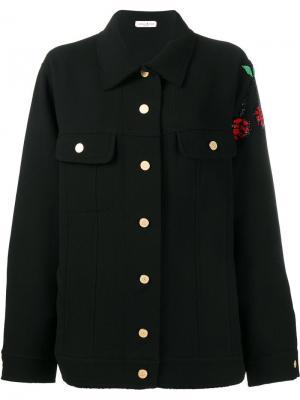 Куртка свободного кроя с вышивкой Natasha Zinko. Цвет: чёрный