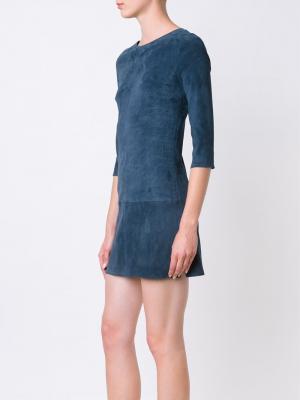 Платье мини Kourou Jitrois. Цвет: синий