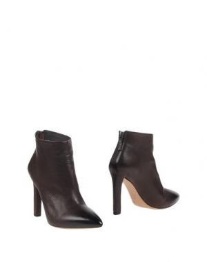 Полусапоги и высокие ботинки EL. Цвет: темно-коричневый
