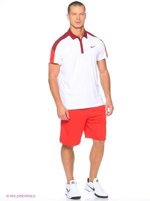 Футболка-поло Nike. Цвет: белый, темно-красный, красный