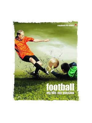 Тетрадь Футбол 1, 48 листов, 5 шт. Альт. Цвет: синий