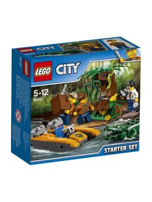 City Jungle Explorer Набор Джунгли для начинающих 60157 LEGO. Цвет: синий