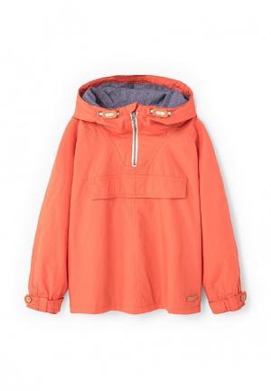 Куртка Mango Kids. Цвет: оранжевый
