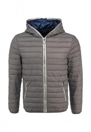 Куртка утепленная New Brams. Цвет: серый