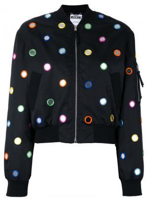 Декорированная куртка бомбер Moschino. Цвет: чёрный