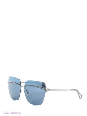 Солнцезащитные очки CHRISTIAN DIOR. Цвет: серый, синий