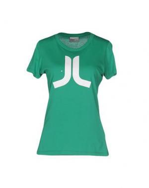 Футболка WESC. Цвет: зеленый