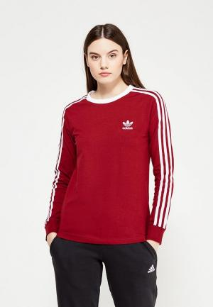 Лонгслив adidas Originals. Цвет: бордовый