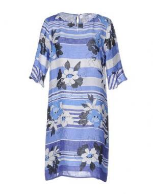 Короткое платье LA FABBRICA del LINO. Цвет: синий