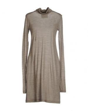 Короткое платье ES'GIVIEN. Цвет: хаки
