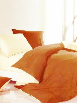 Комплект постельного белья Евро Fashion светло-коричневый-молочный La Pastel. Цвет: светло-коричневый, кремовый