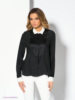 Блузка 18CRR81 CERRUTI. Цвет: черный, белый