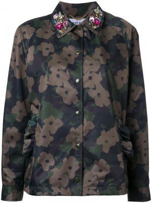 Пиджак с камуфляжным принтом Muveil. Цвет: многоцветный