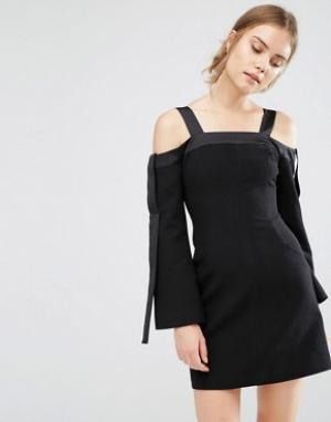 C/meo Collective Платье с открытыми плечами. Цвет: черный