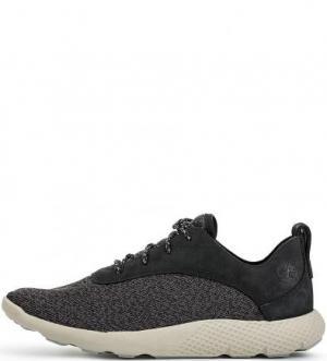 Серые кроссовки с вкладной стелькой Timberland. Цвет: серый