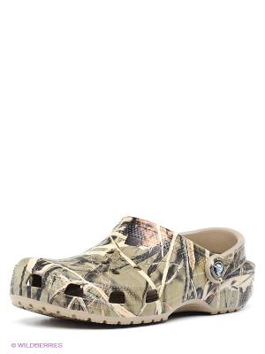 Сабо Clsc Realtree CROCS. Цвет: хаки