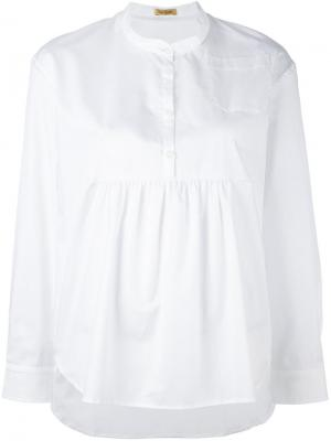 Блузка со складками Peter Jensen. Цвет: белый