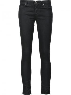 Джинсы скинни с вощеным покрытием Ag Jeans. Цвет: чёрный
