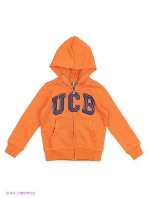 Толстовка United Colors of Benetton. Цвет: оранжевый