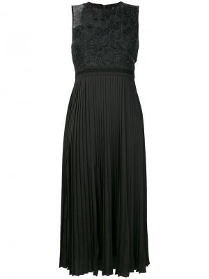 Плиссированное платье Noir Night Three Floor. Цвет: чёрный