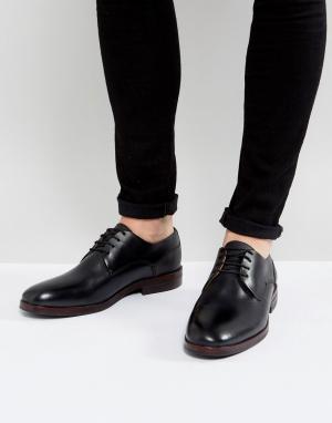 Hudson London Черные кожаные дерби H Enrico. Цвет: черный