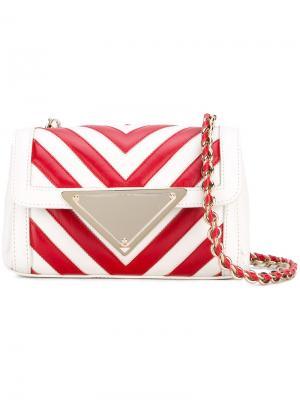 Мини сумка через плечо Elizabeth Sara Battaglia. Цвет: красный