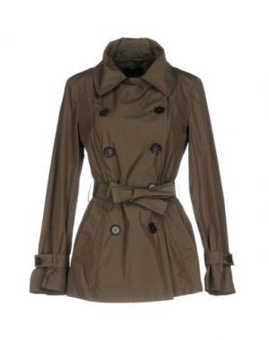 Легкое пальто FABRIZIO LENZI. Цвет: хаки