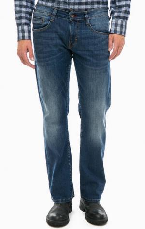 Расклешенные джинсы с низкой посадкой Mustang. Цвет: синий