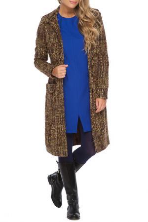 Пальто Gloss. Цвет: коричневый