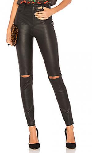 Кожаные джинсы esme LAMARQUE. Цвет: черный