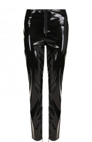 Однотонные зауженные брюки RTA. Цвет: черный