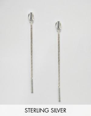 Fashionology Серебряные серьги-цепочки. Цвет: серебряный