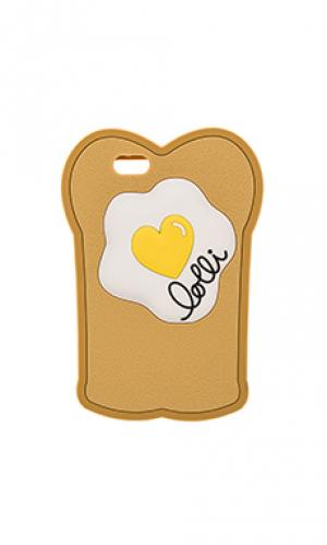 Чехол на iphone 6 toasty egg lolli swim. Цвет: цвет загара