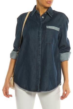 Рубашка Acne. Цвет: синий