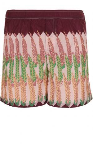Плавки-шорты с принтом Valentino. Цвет: бордовый